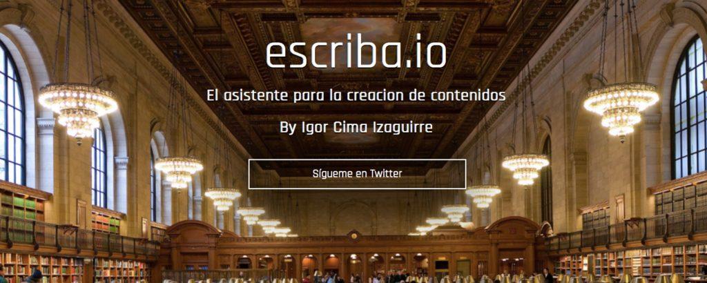 Escriba: Entrevista a Igor Cima